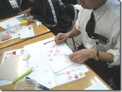 星槎国際高等学校で染色講座