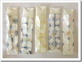 折染め「祝い箸袋」