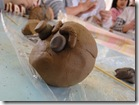 ふくしま保育園で土鈴作り