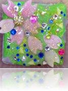 桜の帯留制作