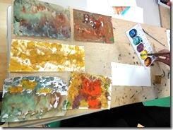 いきいき教室 色のコラージュ