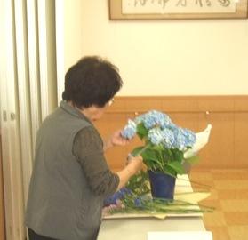 押し花 山根先生を迎えて 4/26