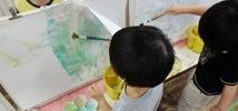 みゆき保育園 くま組さん 絵の具で遊ぼう