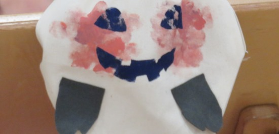 ハロウィンのオバケポーチ