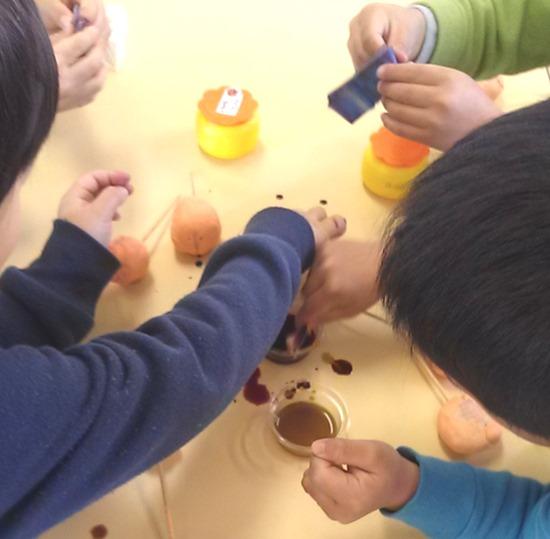 保育園雛人形作り
